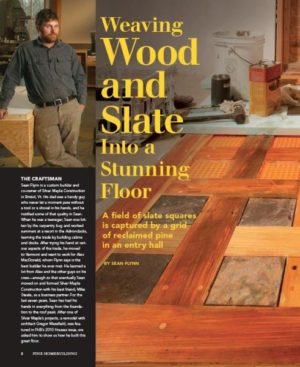 Fine Homebuilding: Weaving Wood & Slate